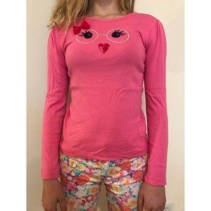 pink owl long sleeved shirt!